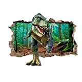 AIUSD Clearance , Wall Sticker Cool 3D Dinosaur Floor Wall Sticker Removable Vinyl Art Home Decal DIY For Gift Christmas New Year Decorations