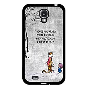 Hipster Retro Design Famous Comic Calvin And Hobbes Phone Case Cover for Samsung Galaxy S4 I9500 Comic Popular Cover Shell