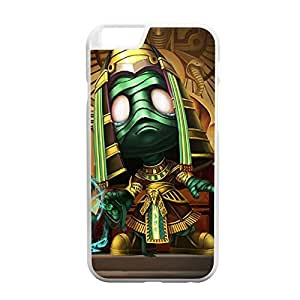 Amumu-004 League of Legends LoL case cover for Apple iPhone 6 Plus - Plastic White hjbrhga1544