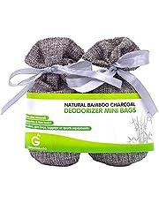 Golden Value SG Bamboo Charcoal Deodorizer Mini Bags, Silver Grey