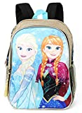 Disney Little Girls' Frozen Sisters Backpack (Gold)
