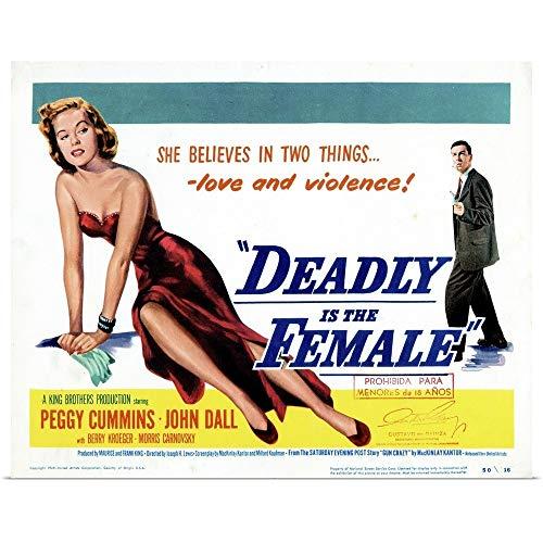 - GREATBIGCANVAS Poster Print Entitled Gun Crazy, Title Card, Peggy Cummins, John Dall, 1949 by 48