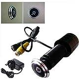 """BW 1/3 """"CCD 600TVL Farbe Home Door Hole Eye Peephole Pinhole Viewer Sicherheit CCTV-Kamera Tür-Viewer für 25-30mm Dicke Tür mit kostenlos UK Power"""