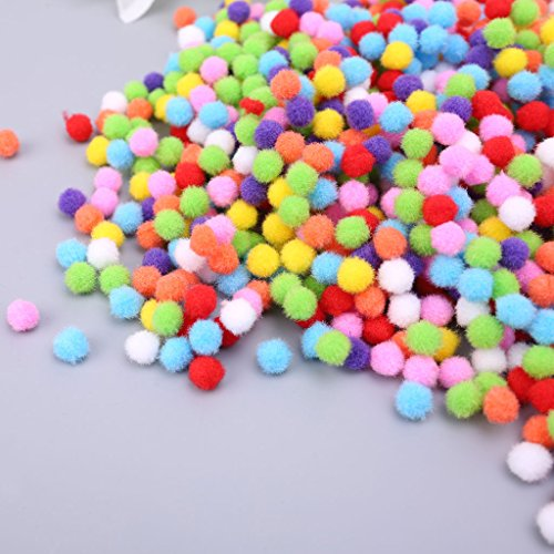 Itlovely 1000Pcs Soft Round Fluffy Craft Pompoms Ball Mixed Color Pom Poms 10mm DIY Craft by Itlovely (Image #6)