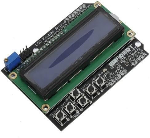 Teclado Pantalla Azul Backlight para Arduino Robot LCD 1602 tarjeta