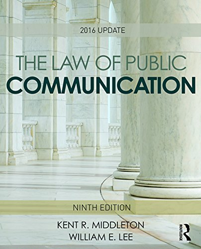 The Law of Public Communication: 2016 Update Pdf