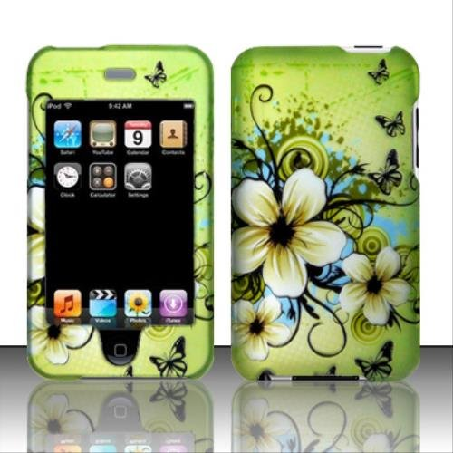(For iPod Touch 2/3 - Rubberized Design Cover - Hawaiian Flowers)