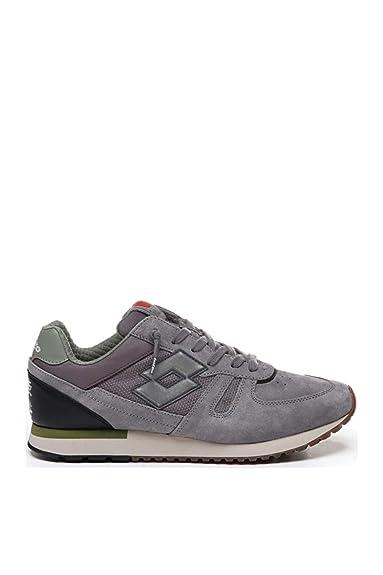 Lotto Hombre T7392 Gris Tela Zapatillas: Amazon.es: Zapatos y complementos
