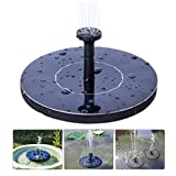 Jiistar Solar Fountain, 1.4W Solar Powered Bird Bath Fountain Pump Solar Panel Kit Water Pump,Outdoor Watering Submersible Pump for Pond, Pool, Garden, Fish Tank, Aquarium (black)