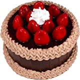 "9"" Chocolate Strawberry Top Fake Cake"