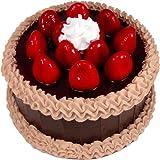 "9"" Chocolate Strawberry Top Fake Cake"