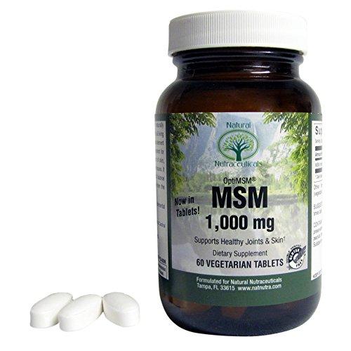 Supplément naturel Nutra OptiMSM - méthylsulfonylméthane (MSM) soufre - 1000 mg - Vegan 60 comprimés