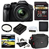panasonic sd camcorder - Panasonic LUMIX DMC FZ300 4K, Point and Shoot Camera with Leica DC Lens 24X Zoom Black + Polaroid Accessory Kit + 32GB Class 3 SD Card + Ritz Gear Bag + Spare Battery + Filter + Cleaning Kit + More