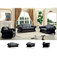 ESF Apolo Living Room Set in Black