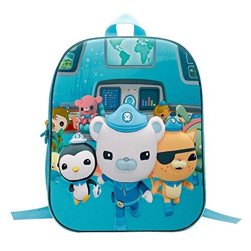 YOURNELO Kid's Cartoon 3D Octonauts Backpack Preschool School Bag (Octonauts, Large) -