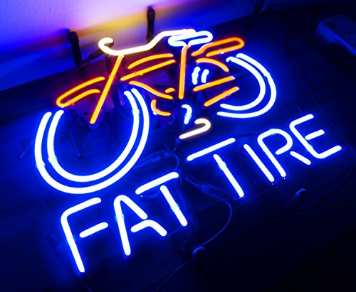 Neon Fat Tire bike Bicycle Beer Pub Sign LED Lamp Night Light Display Design Home Decoration 18.5