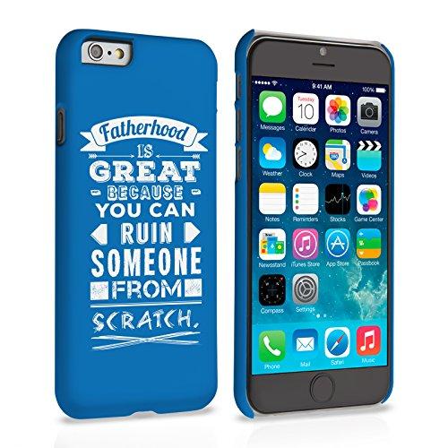 Caseflex iPhone 6 / 6S Hart Hülle Blau Papa Sein Lustig Zitat Schtutzhülle