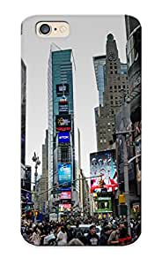 Freshmilk Protection Case For Iphone 6 / Case Cover For Christmas Day Gift(times Square New York Usa City Cities Traffic Crowd People)