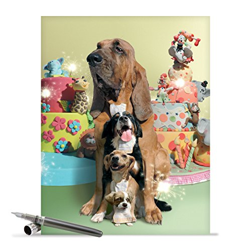 Extra Large Happy Bday Note Card With Envelope (8.5