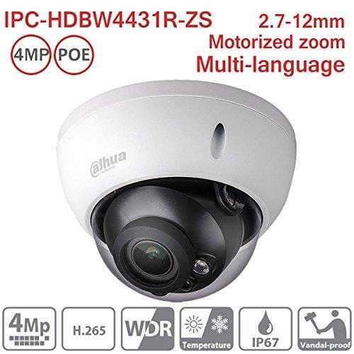 Dahua 4MP Dome IP Camera IPC-HDBW4433R-ZS 2.7-12mm Motorized Varifocal IP PoE IR Indoor Network Camera ONVIF H.265 IP67 International Version