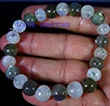 Rainbow Moonstone And Labradorite Bracelet / Genuine Dark Gray Labradorite Grade AA / Stretch Meditation Bracelet / Yoga Bracelet / Throat Chakra / 10mm