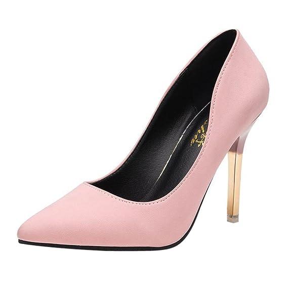 6a9461dfa9 Tacones de mujer Covermason Zapatos de tacón fino de moda Zapatos de tacón  bajo de punta estrecha(39 EU, Rosado): Amazon.es: Ropa y accesorios