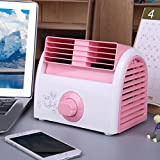XDKTS Mini portable Air conditioner fan,Bladeless quiet Evaporative coolers Small desktop fan Table Air cooler For Student dorm room Office-A