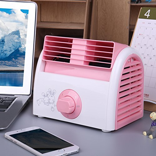 XDKTS Mini portable Air conditioner fan,Bladeless quiet Evaporative coolers Small desktop fan Table Air cooler For Student dorm room Office-A by XDKTS
