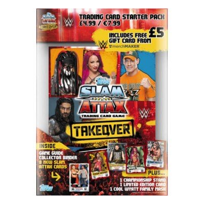 Topps WWE Slam Attax NXT Takeover Starter Pack Album Avec Limited Edition