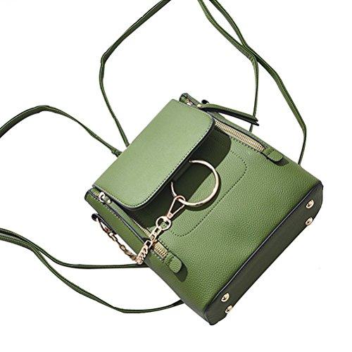 Sac bandoulière à à Vert Décontractée femme Cartable Vert dos sac Mode Fanshu zw8xF0qF