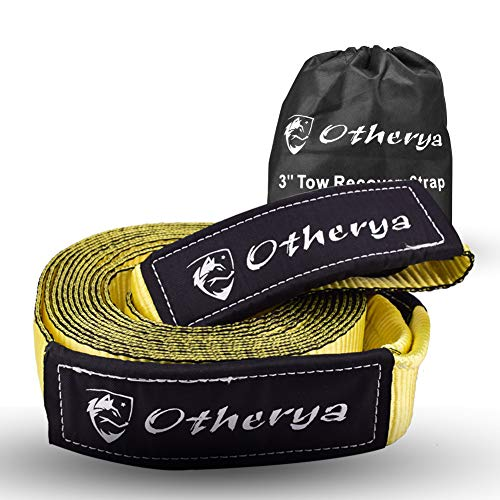 Great Deal! Otherya Tow Recovery Strap 3'' x 30' - Recover Your Vehicle Stuck in Mud/Snow - Heavy Du...
