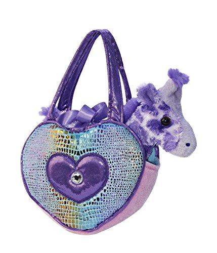 Aurora World Blue Heart Shaped Fancy Pal Pet Carrier Plush