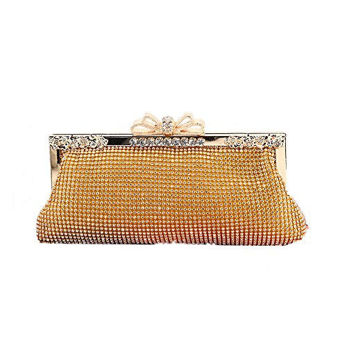 de rabbit Sac à Purse Fête Crystal Main Clutch Gold Gold Lovely Lady Color Soirée Sparkly Mariage 8wdBCqxS