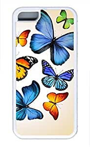 iPhone 5c case, Cute Butterflies 2 iPhone 5c Cover, iPhone 5c Cases, Soft Whtie iPhone 5c Covers