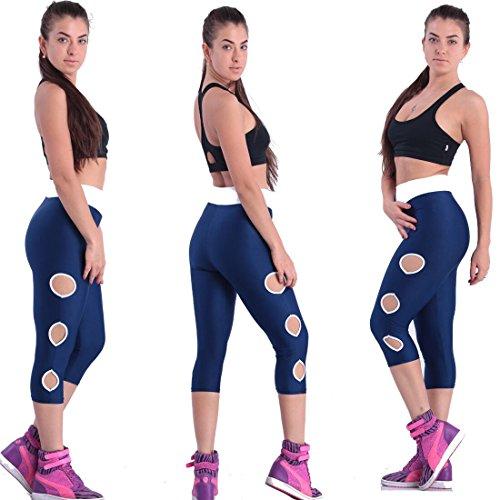 Up Foro Push Rotondo Donna 4 Elastici Da Pantaloni Leggins Alta Con Collant 3 Sportivi Navy Yoga Jogging Bianco Vita Leggings Blu Fitness Fliegend qIXxZwFC6x