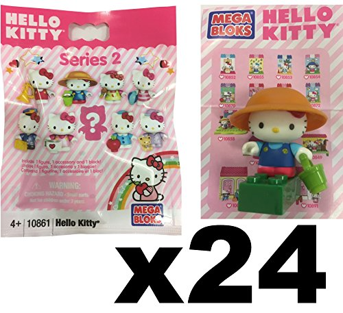 Hello Kitty Megabloks Series 2 Collectable Figure Blind Bag Party Favour Gift x 24