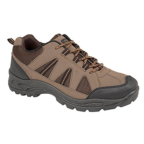 Dek Mens Ghillie Tie Trek and Trail Shoes Beige/Brown/Orange