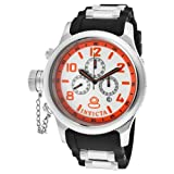 Invicta Men's 1928 Russian Diver Chronograph White Dial Black Polyurethane Watch, Watch Central