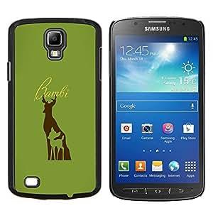 TECHCASE---Cubierta de la caja de protección para la piel dura ** Samsung Galaxy S4 Active i9295 ** --Bambe ciervos