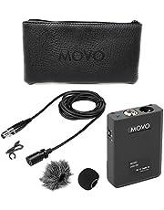 Movo LV22OD XLR Lavalier micrófono condensador omnidireccional con fuente de alimentación Phantom paquete de cuerpo, cápsula de micrófono de 12 mm, espuma y parabrisas Deadcat