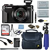 : Canon PowerShot G7 X Mark II 20.1MP 4.2x Optical Zoom Digital Camera + 64GB Memory Card + Deluxe Camera Case + HDMI Cable + Spider Tripod + Premium Accessories Bundle