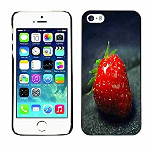 Shell-Star ( Strawberry Macro ) Fundas Cover Cubre Hard Case Cover para Apple iPhone 5 / 5S