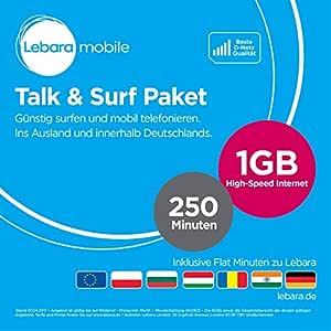 Lebara Talk/Surfpaket mensual terminable SIM (estándar/Micro, 500 ...
