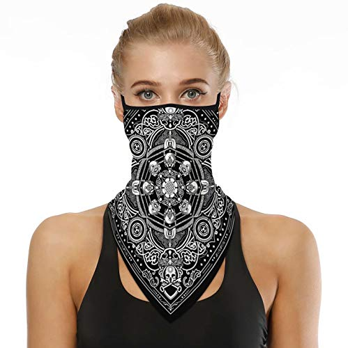 Headwear Bandana for Rave Face Mask Dust Wind,Neck Gaiter,Tube Mask,Face Scarf