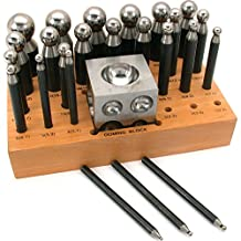 24 Dapping Punches Jewelers Doming Punch Block Tools