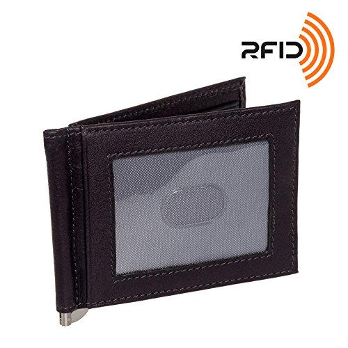 Osgoode Mens Wallet (Osgoode Marley Leather RFID Money Clip Front Pocket Wallet (Storm))