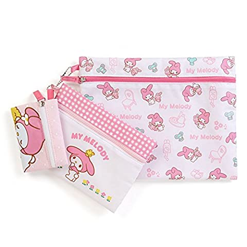 Sanrio My Melody triple flat pouch basic From Japan New (Dbz Character Guide)