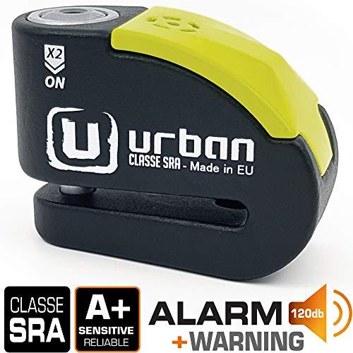 🥇 Urban Security UR10 candado antirrobo Disco con Alarma 120dba + Warning