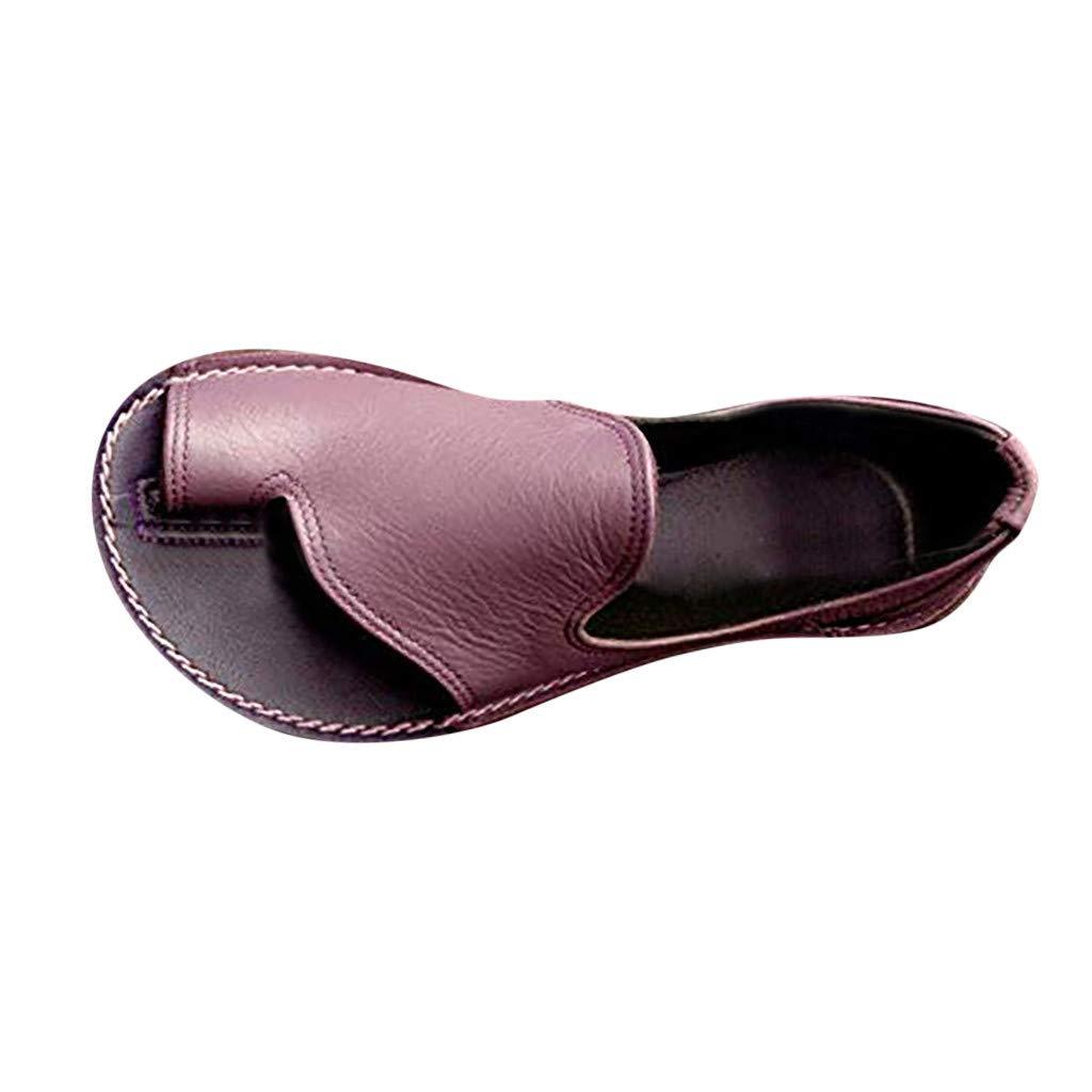 YEZIJIN Leisure Womens Flats Low-Heeled Open Toe Beach Casual Shoe Roman Sandals Platform/High Heel Sandals Purple
