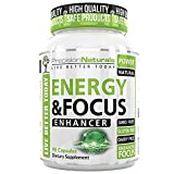 Energy Focus Pills – Natural Caffeine L-Theanine Supplement – Memory, Clarity Brain Booster – No Crash/Jitters Premium Cognitive Stack – Best Mental Performance Nootropic Formula for Men and Women 60 Review